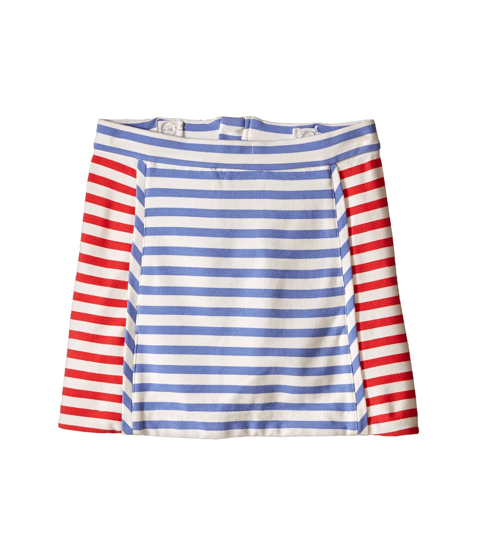 Kate Spade New York Kids Stripe A Line Skirt Toddler/Little Kids Periwinkle/Geranium/Cream Stripe Girls Skirt