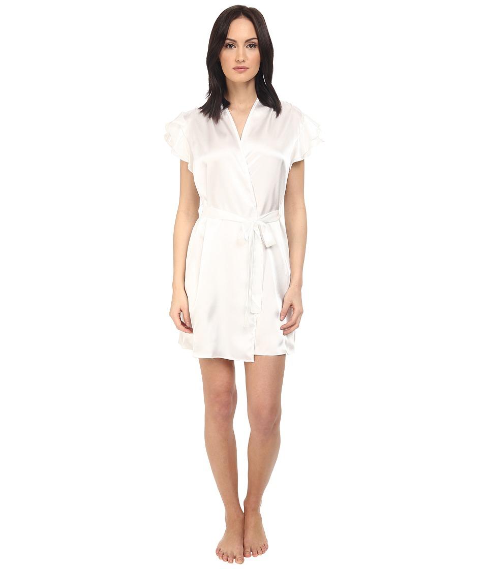 Oscar de la Renta Pink Label Short Wrap Pearl Womens Pajama