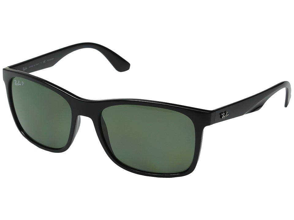 Ray-Ban RB4232 57mm (Black/Black/Green) Fashion Sunglasses