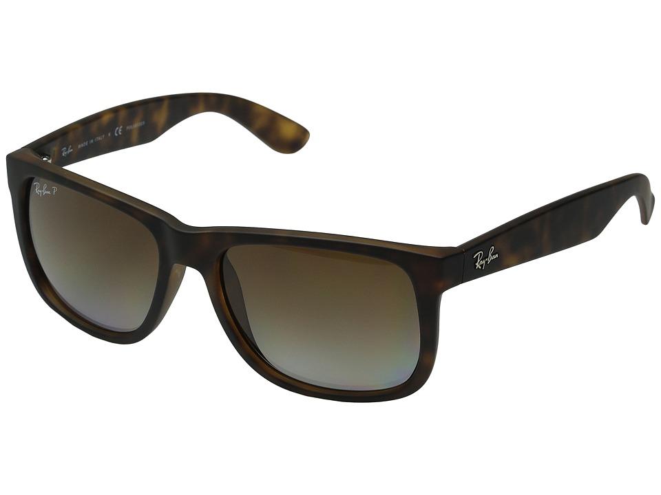 Ray-Ban RB4165 Square Boyfriend 55mm (Havanna Rubber/Brown Gradient) Plastic Frame Fashion Sunglasses