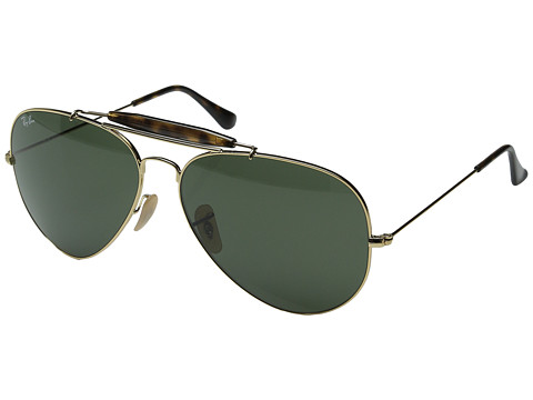 Ray-Ban RB3029 62mm - Gold/Dark Green