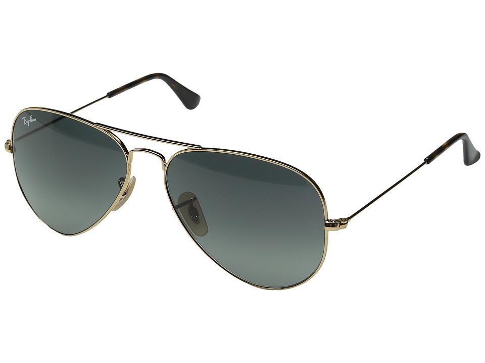 Ray-Ban RB3025 Original Aviator 58mm (Gold/Light Gray Gradient Dark Gray) Metal Frame Fashion Sunglasses