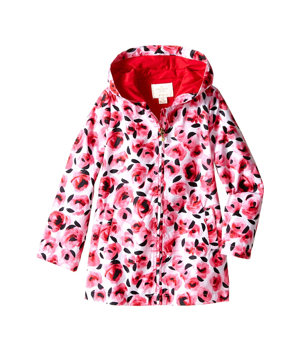 Kate Spade New York Kids Hooded Rose Raincoat Toddler/Little Kids Rosebud Girls Coat