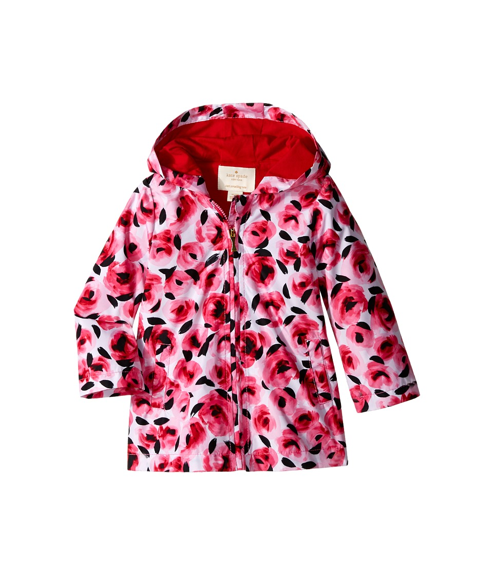Kate Spade New York Kids Hooded Rose Raincoat Infant Rosebud Girls Coat