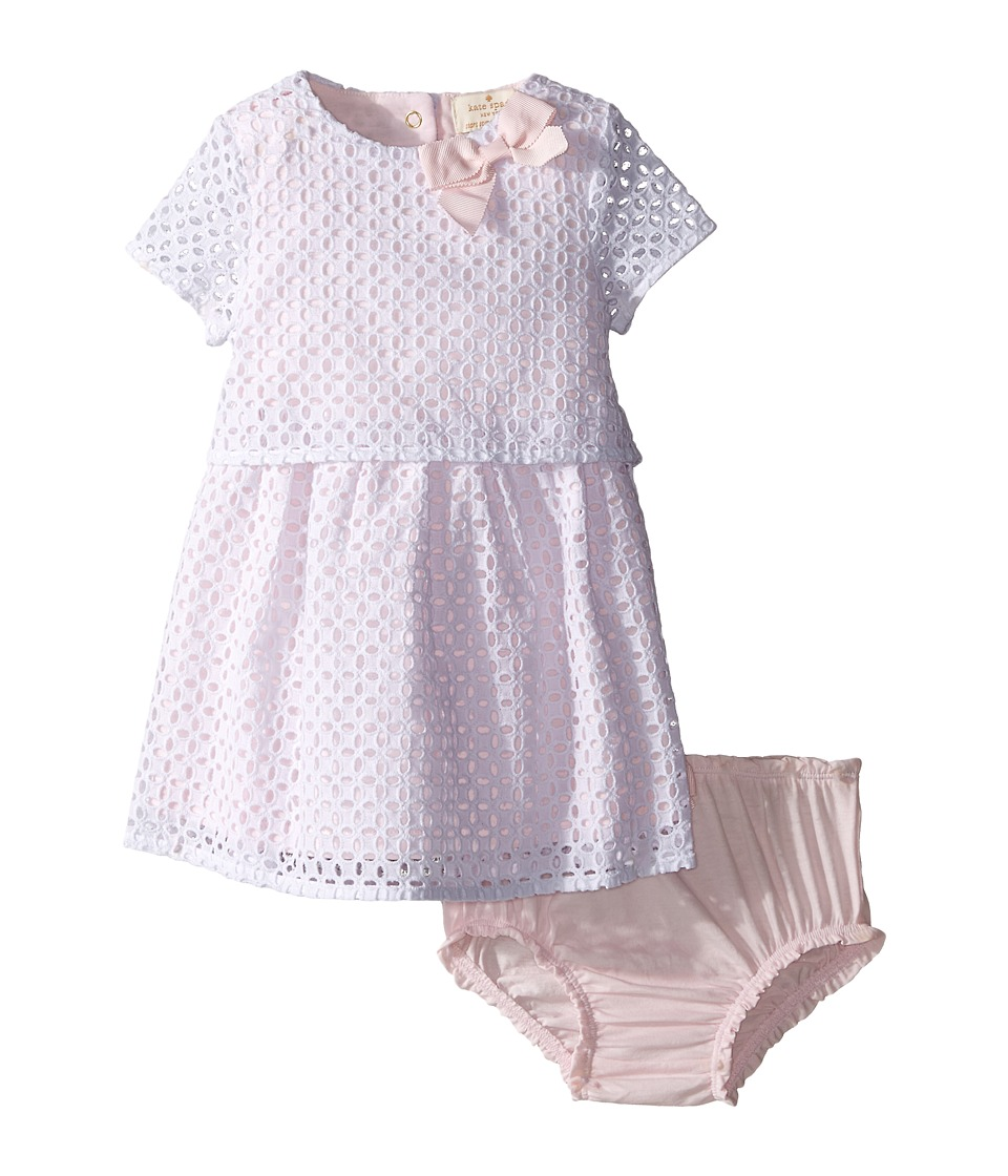 Kate Spade New York Kids Eyelet Dress and Bloomer Set Infant Valentine Pink/Fresh White Girls Active Sets