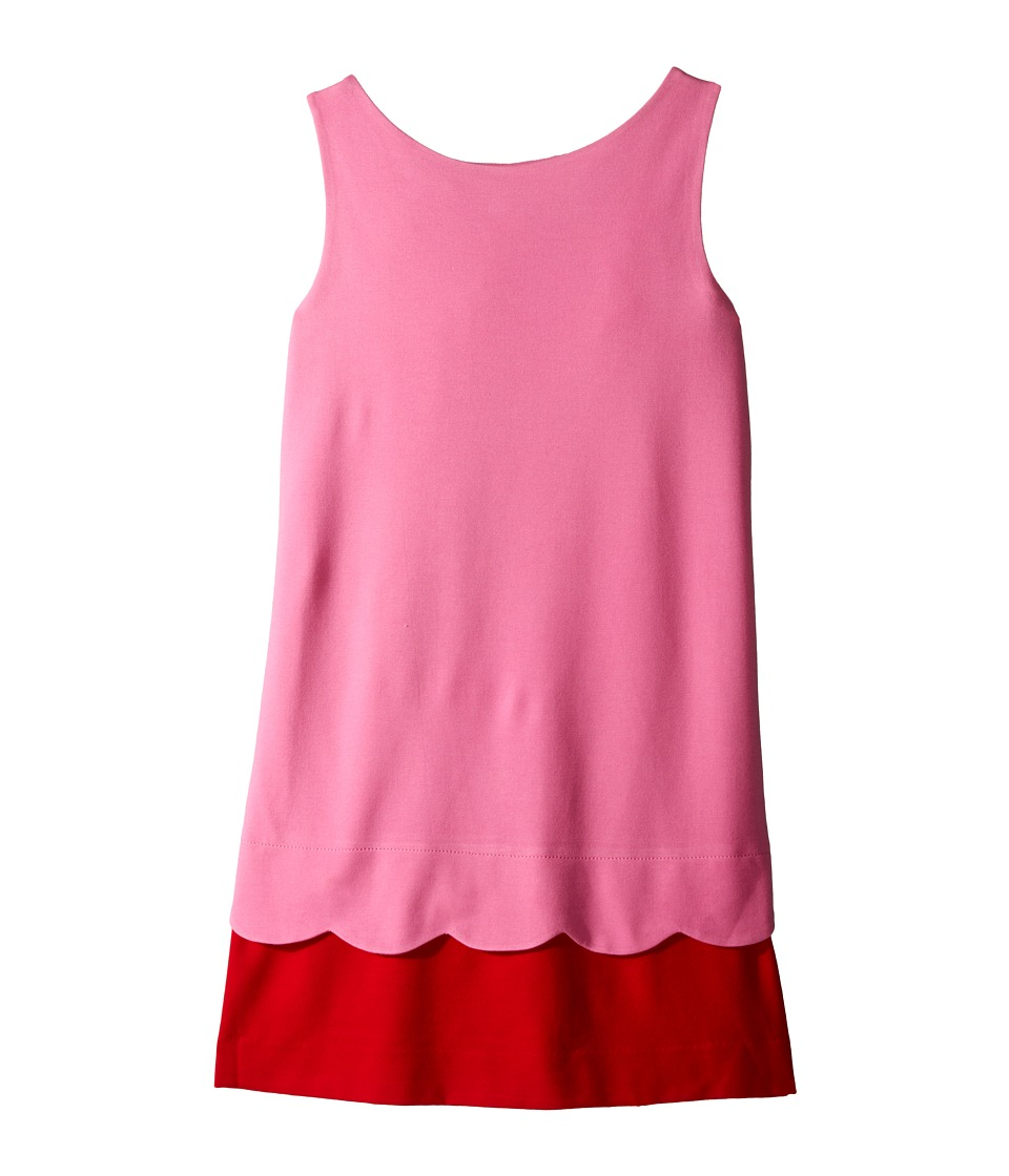 Kate Spade New York Kids Bow Back Scallop Dress Big Kids Carousel Pink/Posey Red Girls Dress