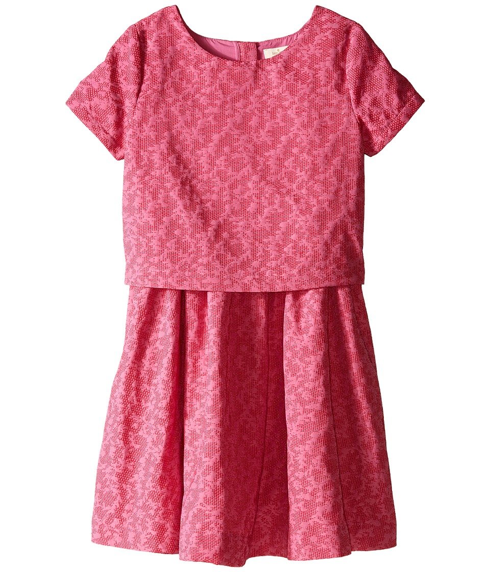 Kate Spade New York Kids Jacquard Dress Big Kids Carousel Pink/Posey Red Girls Dress