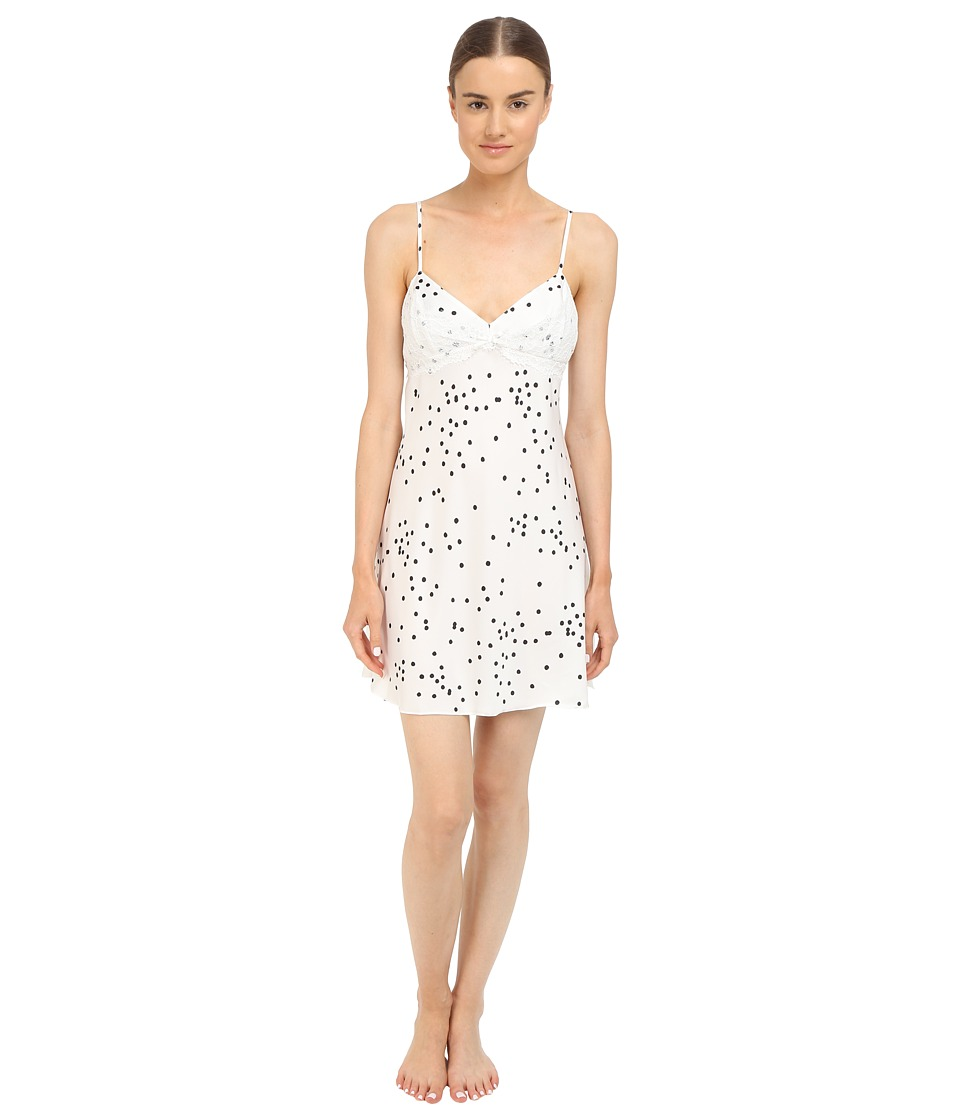 Kate Spade New York - Charmeuse Chemise (Bridal Dot Off-White) Women's Pajama
