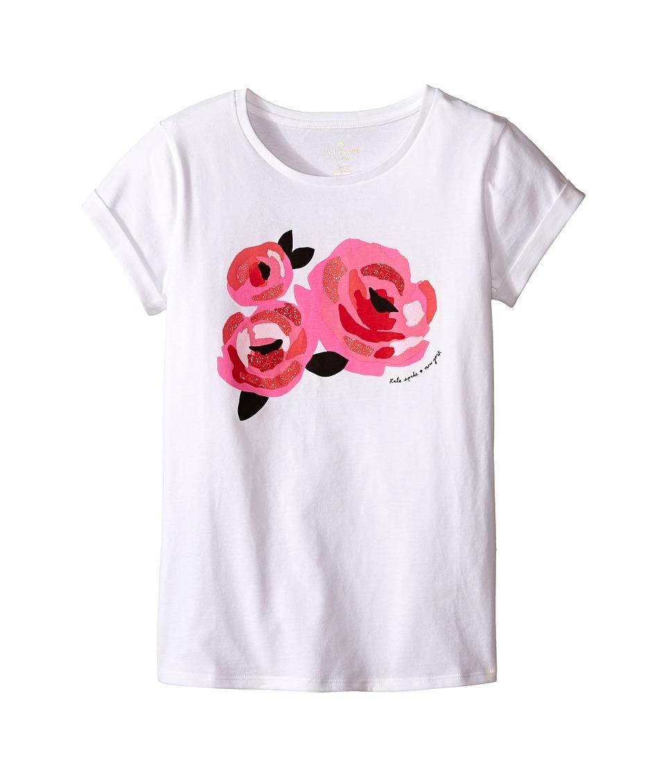 Kate Spade New York Kids Rose Tee Big Kids Fresh White Girls T Shirt