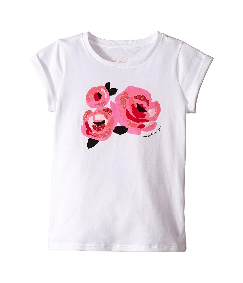 Kate Spade New York Kids Rose Tee Toddler/Little Kids Fresh White Girls T Shirt