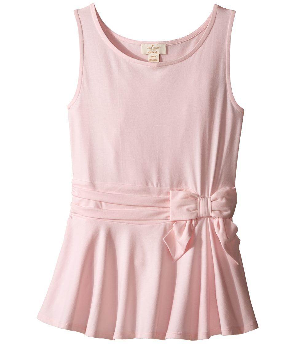 Kate Spade New York Kids Peplum Top Big Kids Valentine Pink Girls Clothing