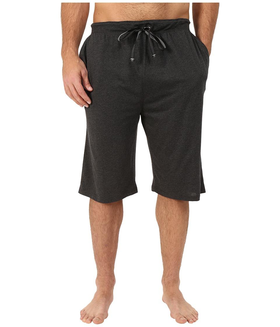 Tommy Bahama Big Tall Heather Cotton Modal Knit Jam Shorts (Black Heather) Men