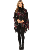 Steve Madden - Ombre Plaid Boucle Turtleneck Poncho