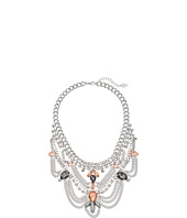 GUESS - Stone Bib Multi Chain Drape Necklace