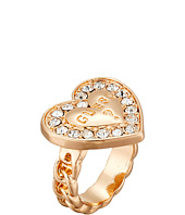 GUESS - Stone Framed Logo Heart Ring