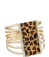 GUESS - Wide Hinge Leopard Cuff Bracelet