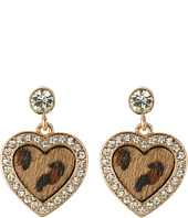 GUESS - Framed Heart Drop Earrings