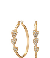 GUESS - 3 Heart Stone Hoop Earrings