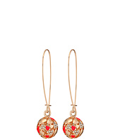 GUESS - Heart Ball on Wire Drop Earrings
