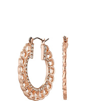 GUESS - Frozen Chain with Stone Hoop Earrings