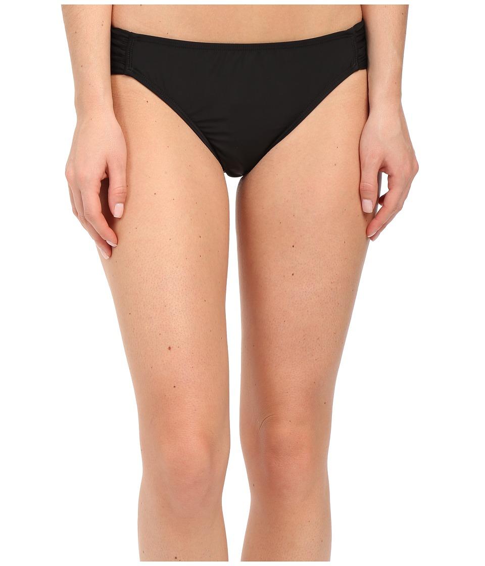 Athena Sand Tropez Solid Tab Bottom Black Womens Swimwear