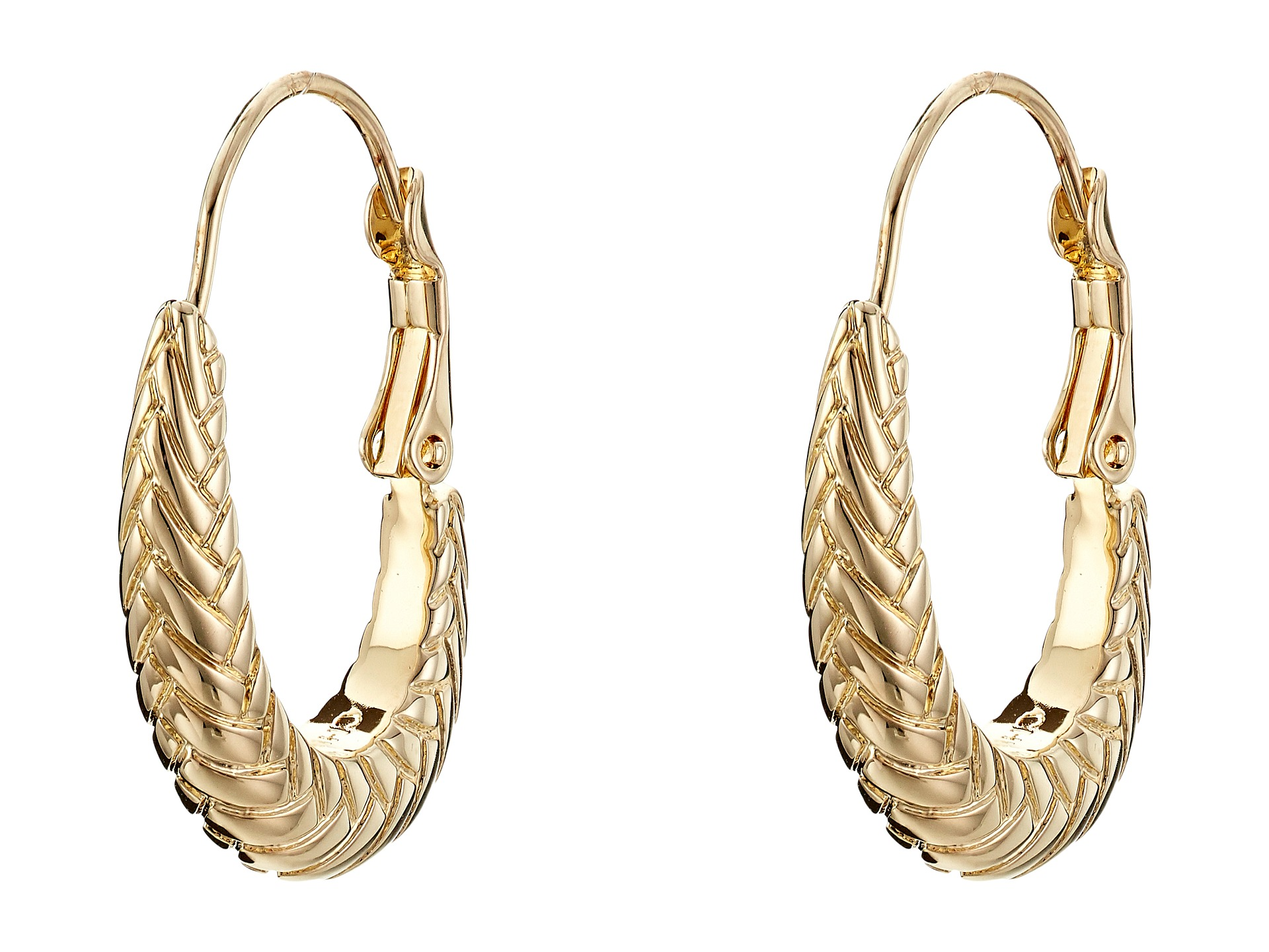 cole haan large basket weave oval hoop earrings zappos