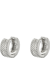 Cole Haan - Basket Weave Huggy Earrings