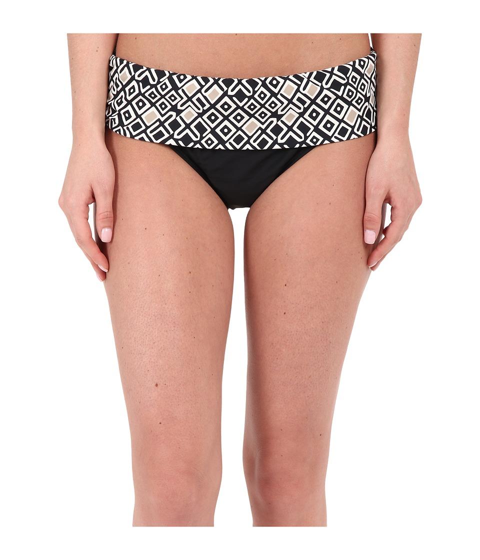 Athena Gold Coast Geo Banded Bottom Black Womens Swimwear