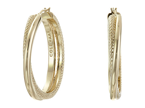 Cole Haan Crisscross Hoop Earrings - Gold