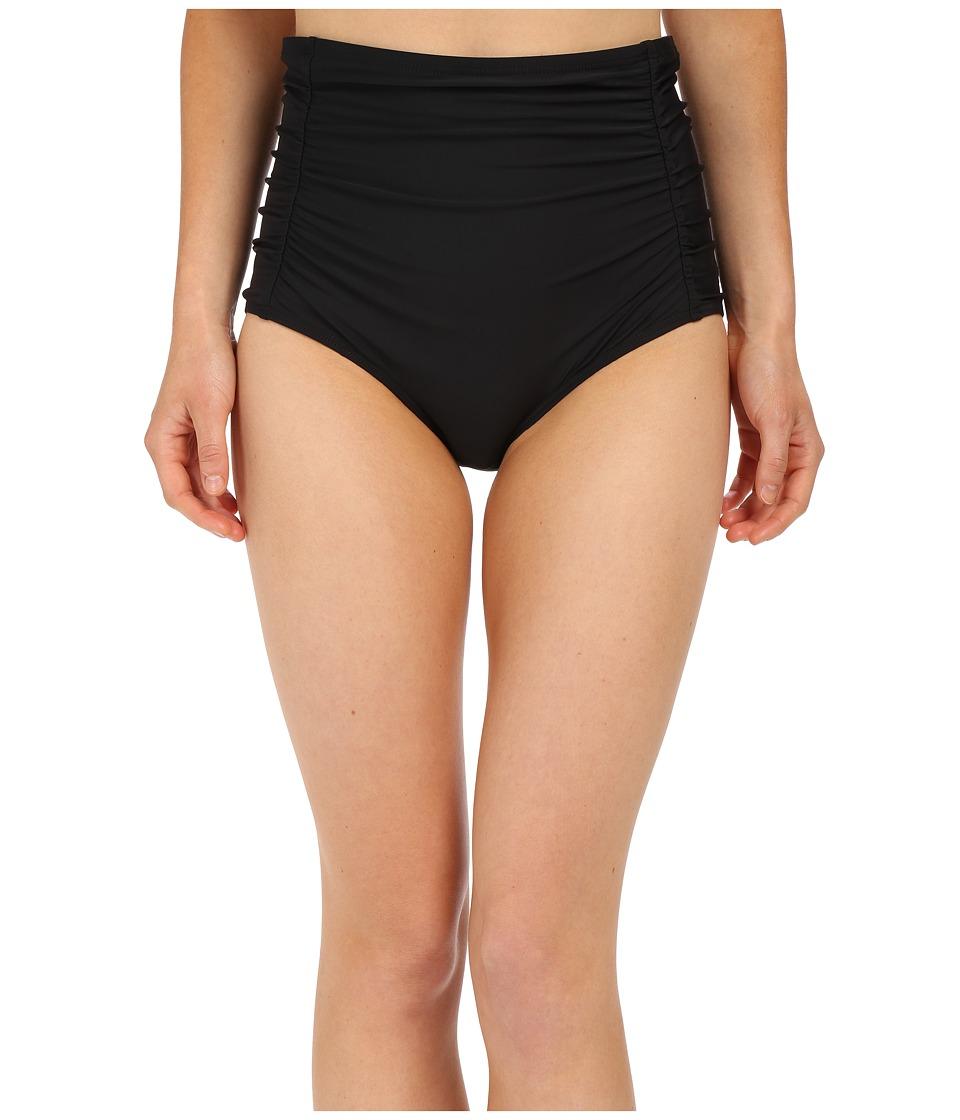 Athena Cabana Solids High Waist Bottom Black Womens Swimwear