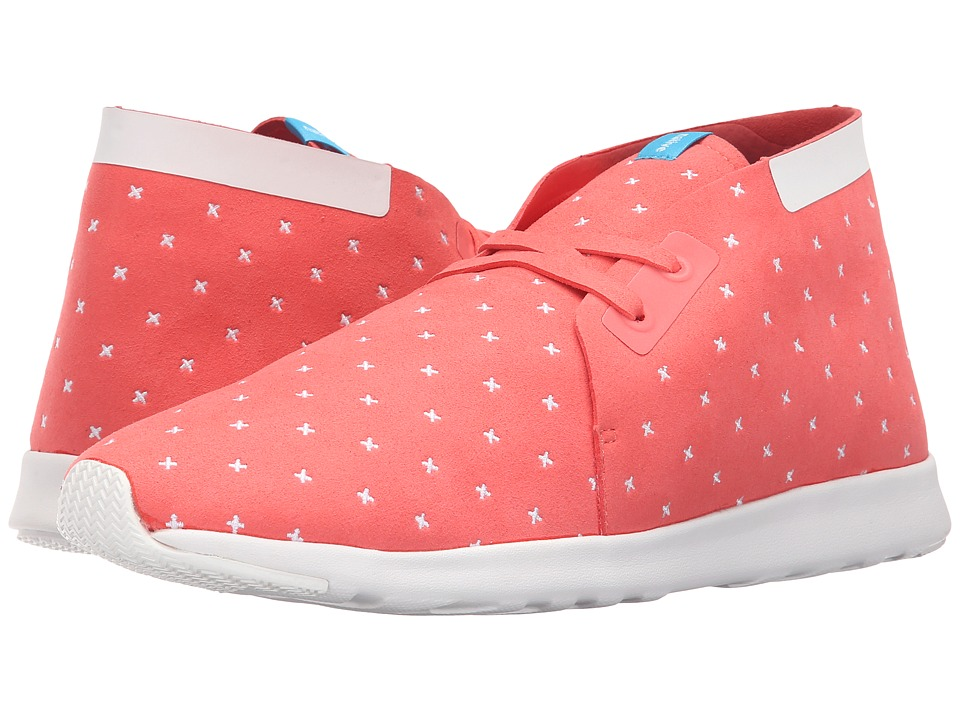 Native Shoes Embroidered Apollo Chukka Snapper Red/Shell White/Shell Rubber/Embroidered Slip on Shoes