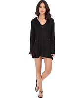 Athena - Cabana Solids Hooded Tunic Cover-Up