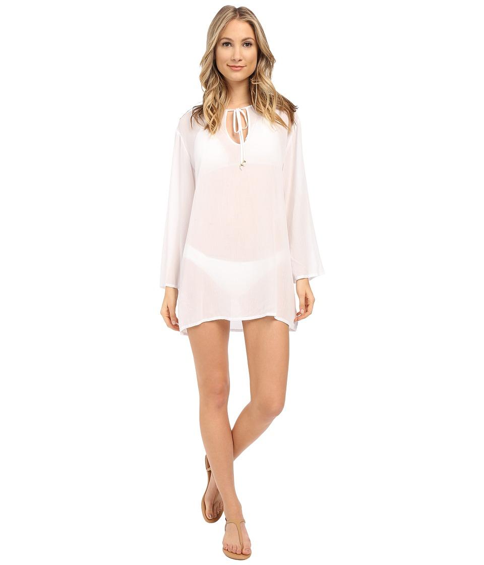 Athena Cabana Solids Tunic Cover Up White Womens Swimwear