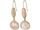 Cole Haan Semi Precious Doorknocker Earrings