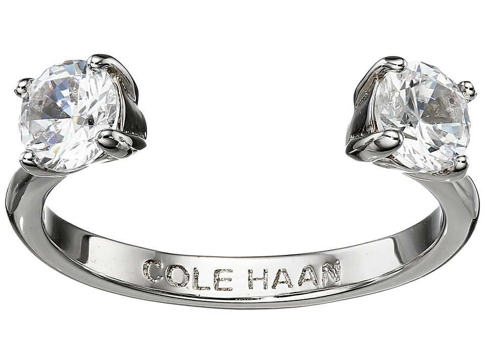 Cole Haan - CZ Open Stone Ring (Silver/Crystal) Ring