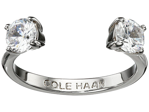 Cole Haan CZ Open Stone Ring - Silver/Crystal