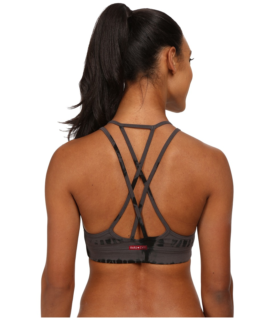 Hard Tail Double Cross Bra Granite/Black Skeleton Womens Bra