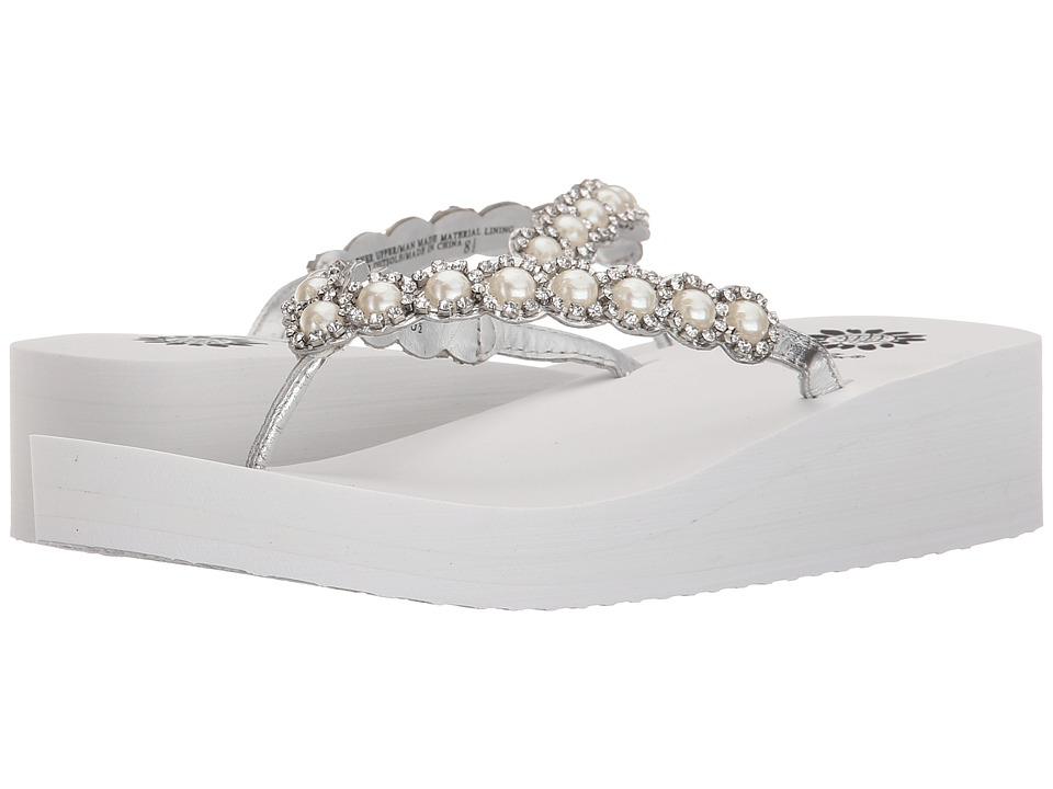 Yellow Box Edwina White/Silver Womens Sandals