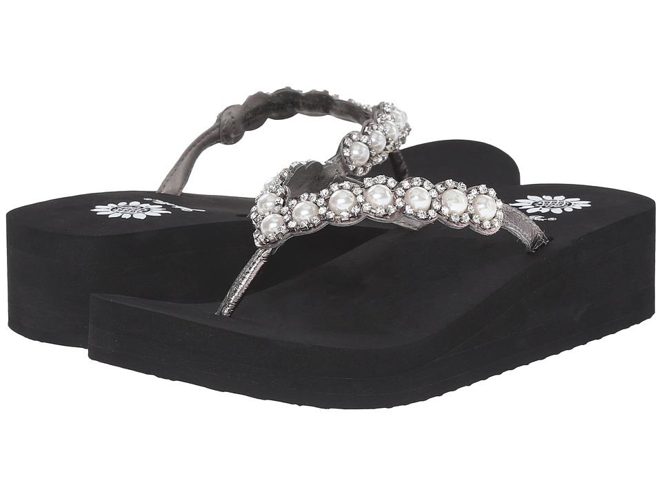 Yellow Box Edwina Black/Silver Womens Sandals