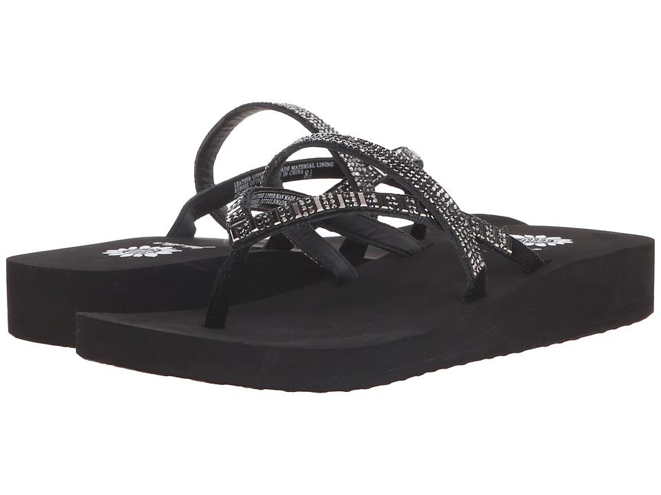 Yellow Box Atlantic Black/Pewter Womens Sandals