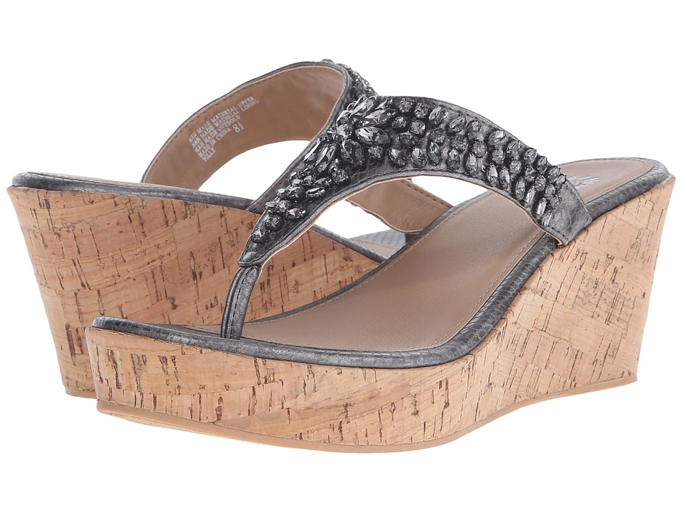 Yellow Box Polly Pewter Womens Wedge Shoes