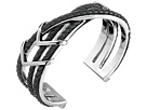 Cole Haan Chevron Metal Leather Braided Cuff