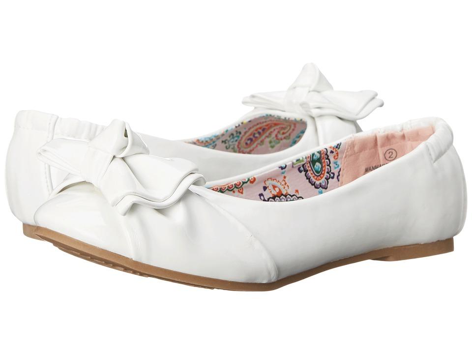 Steve Madden Kids Jdarling Little Kid/Big Kid White Patent Girls Shoes