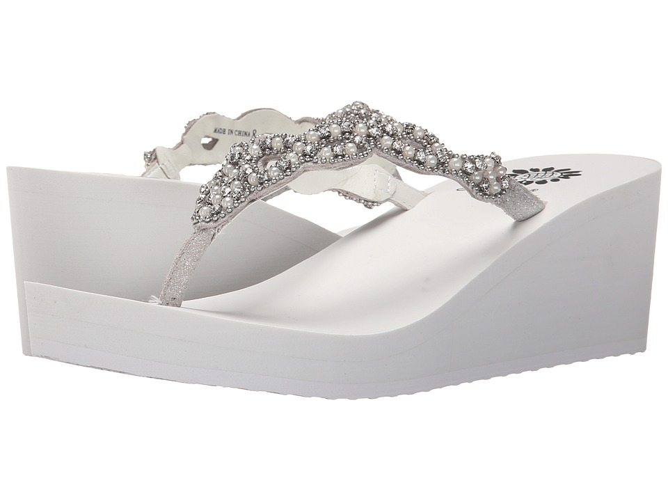 Yellow Box Sardinia White Womens Wedge Shoes