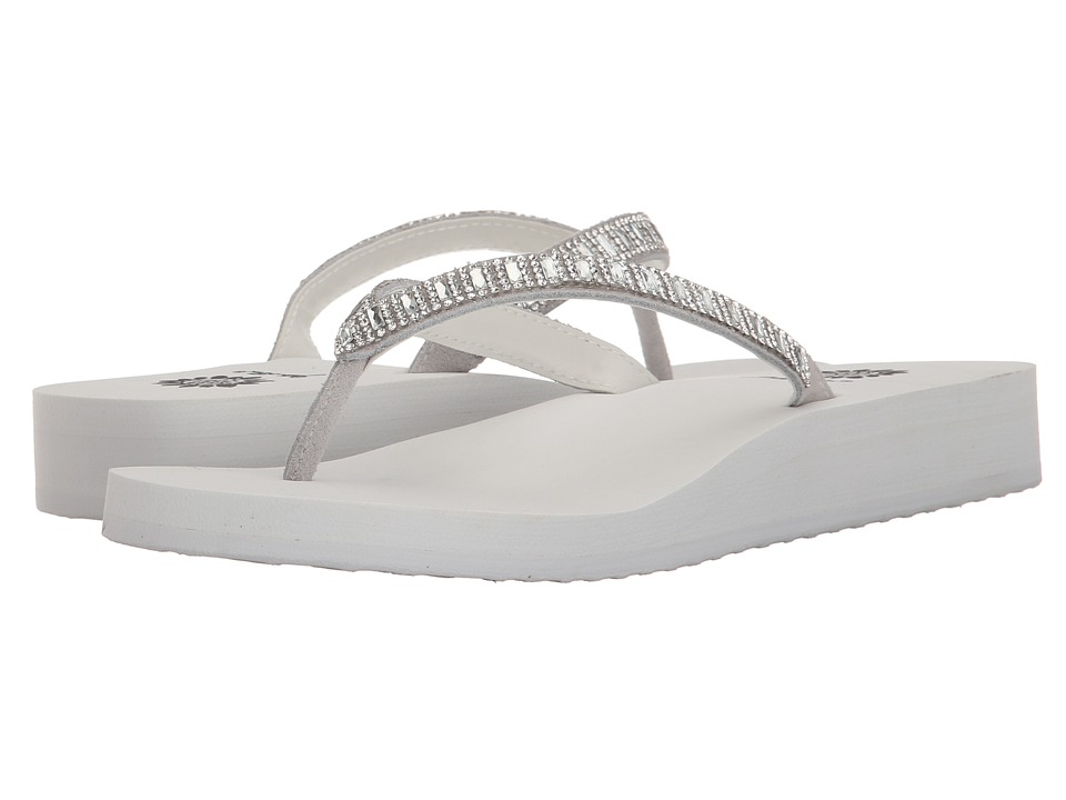 Yellow Box Zemily White/Clear Womens Sandals