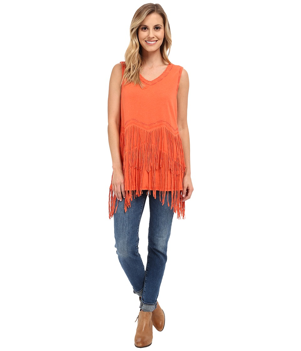Double D Ranchwear Buckeye Boo Tank Top Apricot Womens Sleeveless
