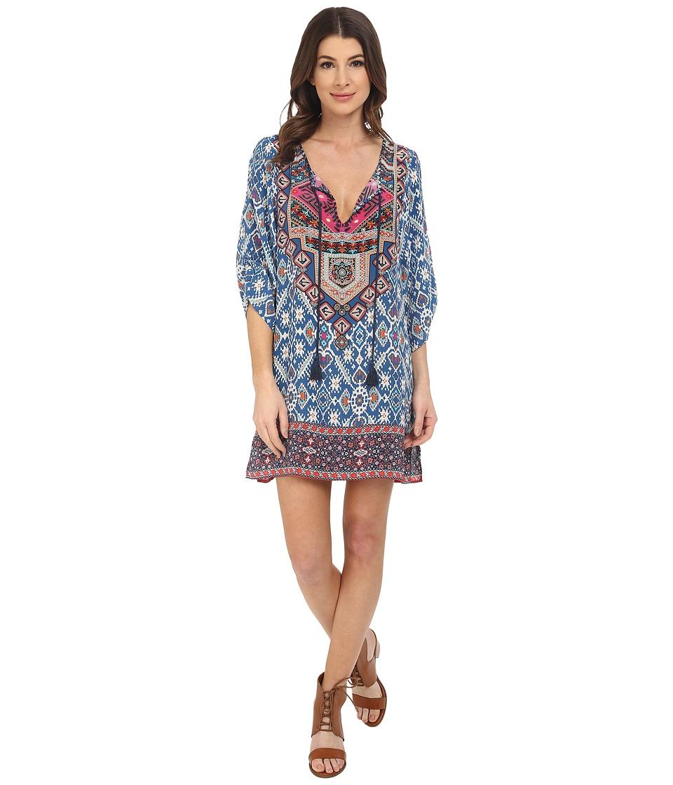 Tolani Sasha Tunic Dress Blue Womens Dress