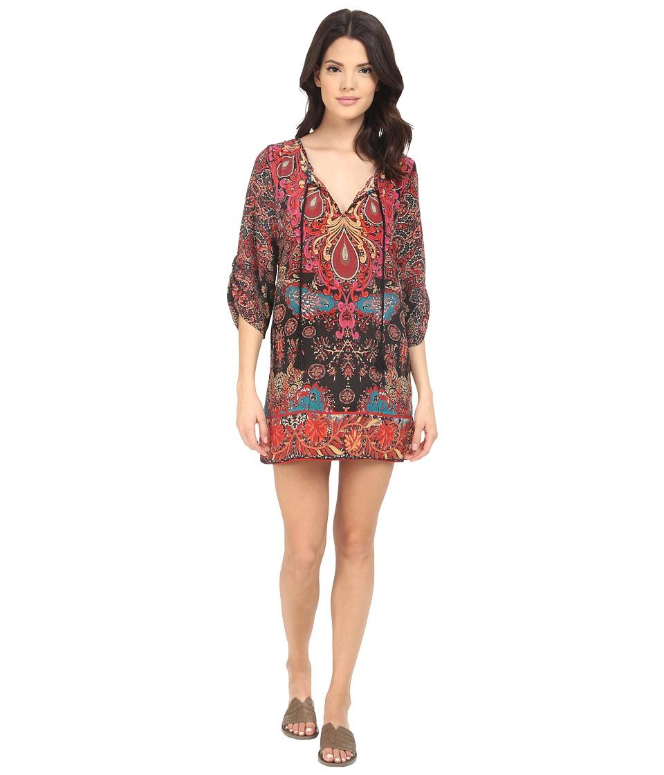 Tolani Teardrop Tunic Dress Ebony Womens Dress