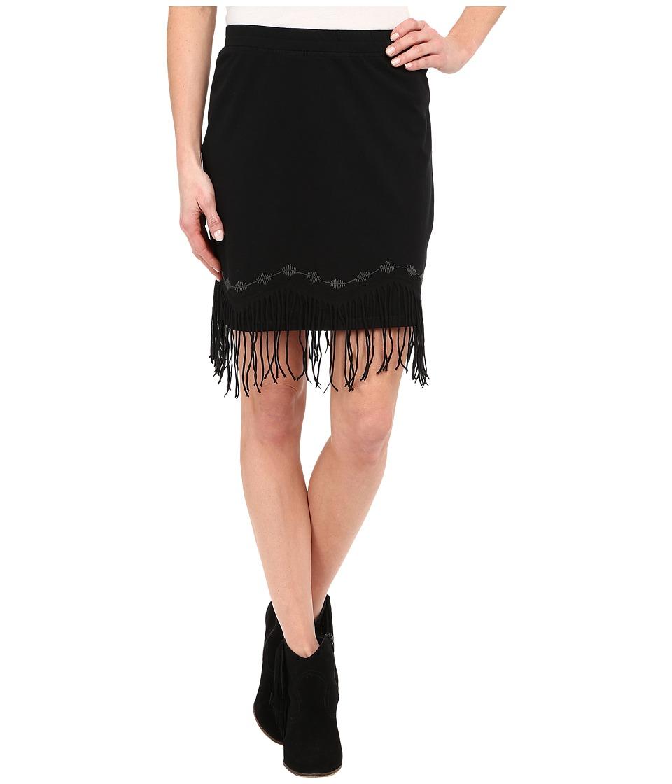 Double D Ranchwear Buckeye Boo Skirt Black Womens Skirt