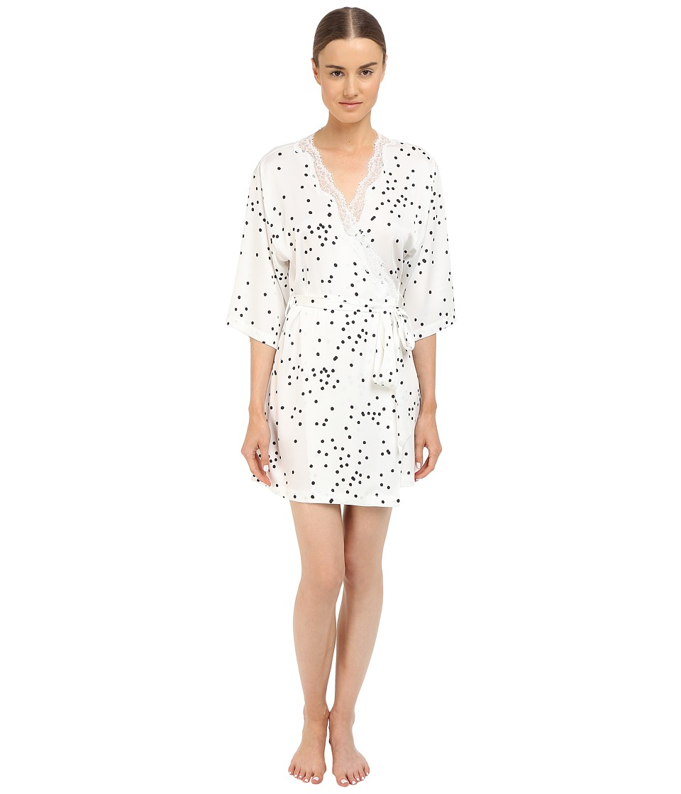 Kate Spade New York - Charmeuse Wrap (Bridal Dot Off-White) Women's Robe